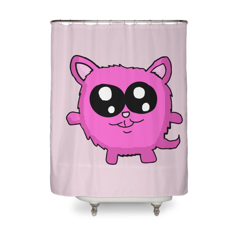 Kawaii Pink Kitty Home Shower Curtain by ericallen's Artist Shop