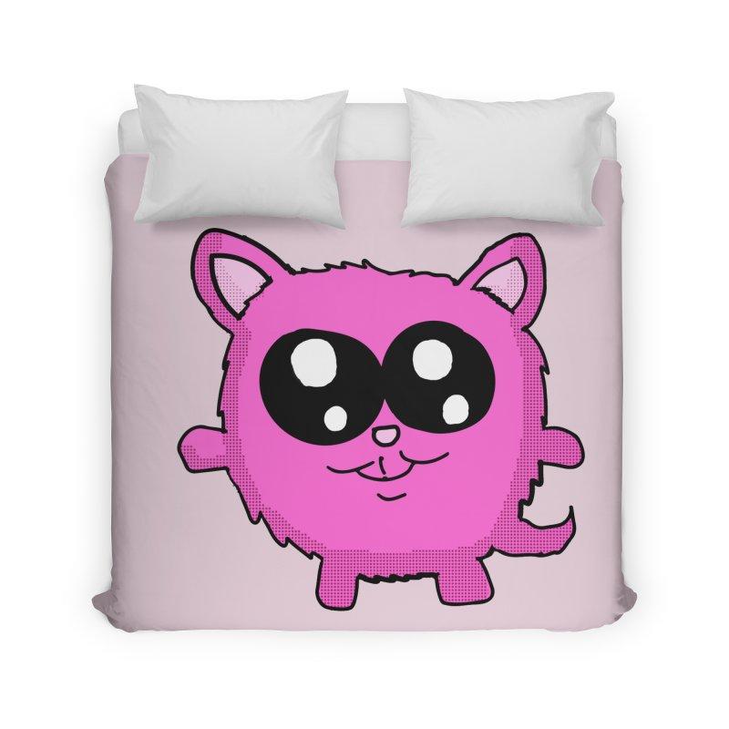 Kawaii Pink Kitty Home Duvet by ericallen's Artist Shop