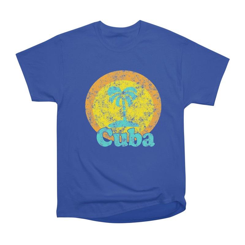 Vintage Cuba Graphic  in Men's Classic T-Shirt Royal Blue by ericallen's Artist Shop