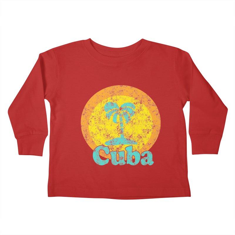 Vintage Cuba Graphic  Kids Toddler Longsleeve T-Shirt by ericallen's Artist Shop