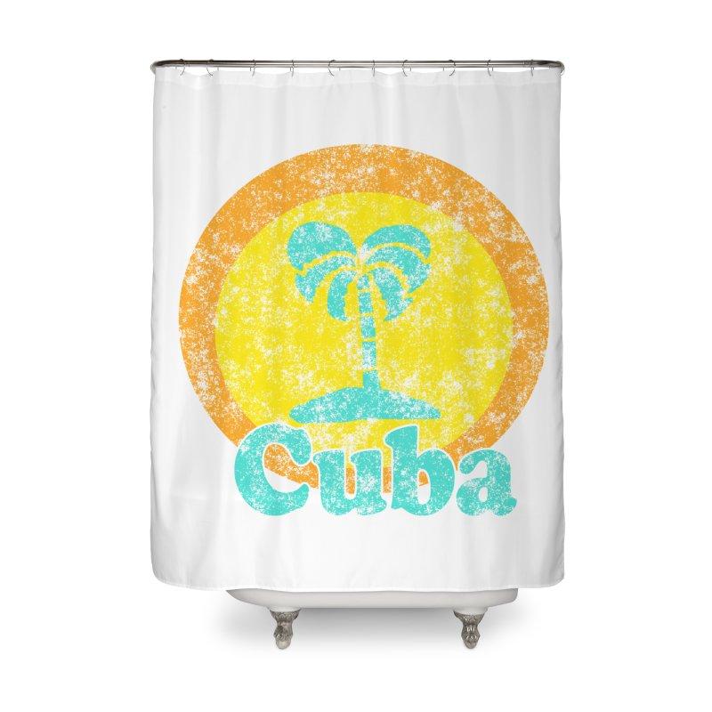 Vintage Cuba Graphic  Home Shower Curtain by ericallen's Artist Shop