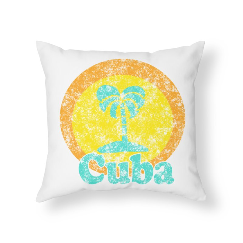 Vintage Cuba Graphic  Home Throw Pillow by ericallen's Artist Shop