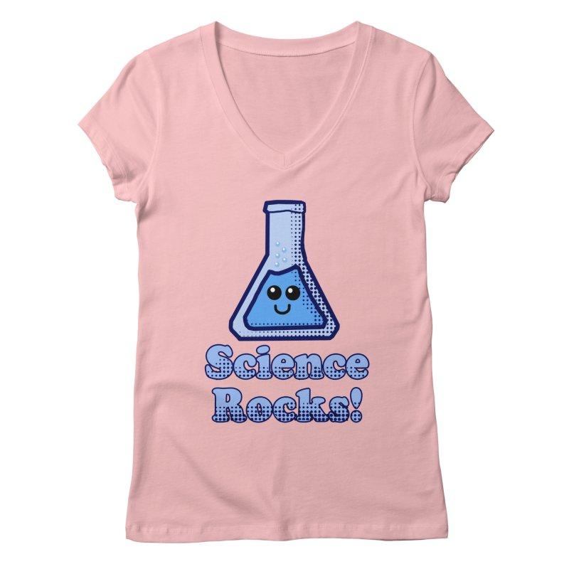 Science Rocks Women's V-Neck by ericallen's Artist Shop