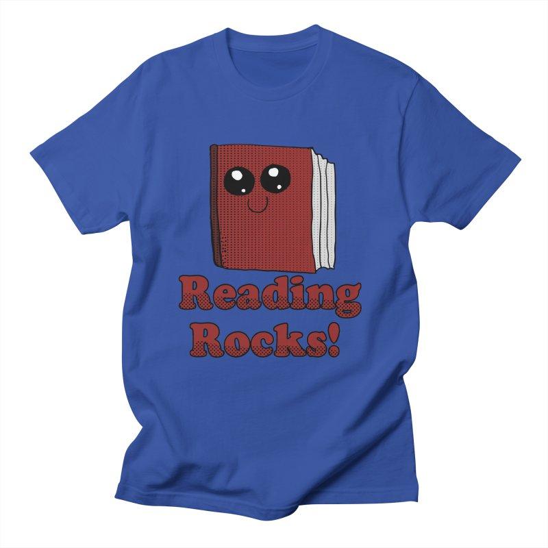 Reading Rocks! in Men's T-shirt Royal Blue by ericallen's Artist Shop
