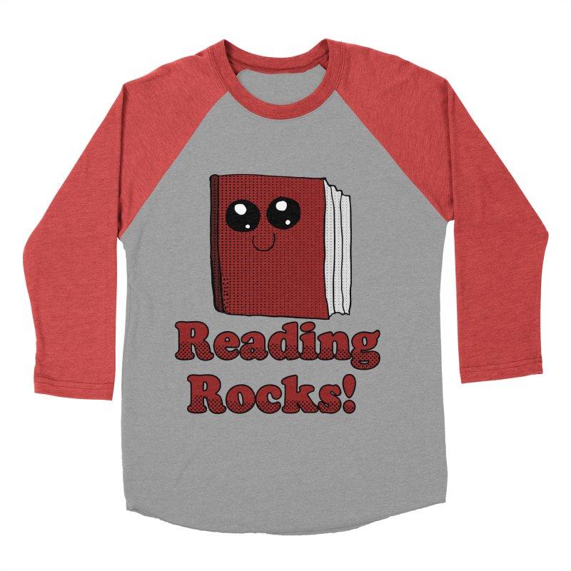 Reading Rocks! Women's Baseball Triblend T-Shirt by ericallen's Artist Shop