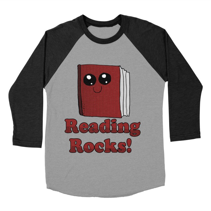 Reading Rocks! Men's Baseball Triblend T-Shirt by ericallen's Artist Shop