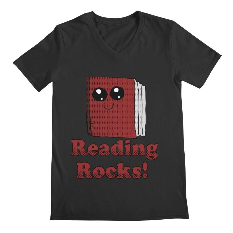 Reading Rocks! Men's V-Neck by ericallen's Artist Shop