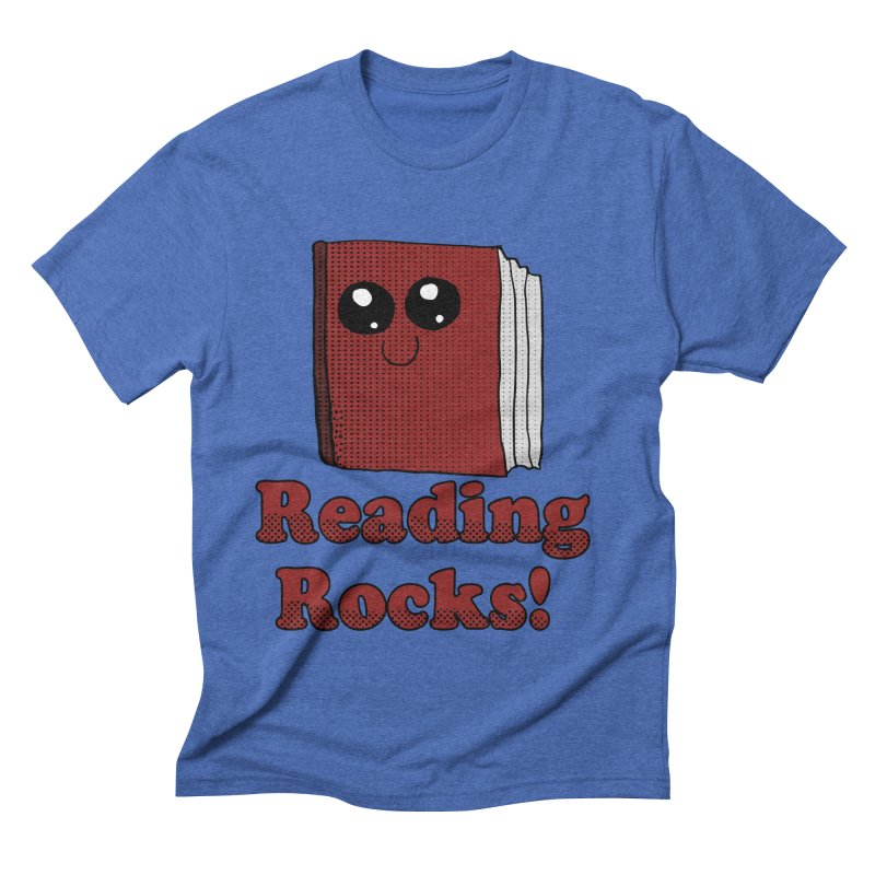 Reading Rocks! Men's Triblend T-shirt by ericallen's Artist Shop