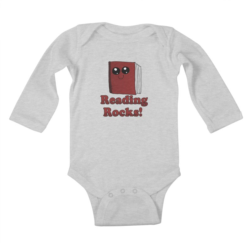 Reading Rocks! Kids Baby Longsleeve Bodysuit by ericallen's Artist Shop