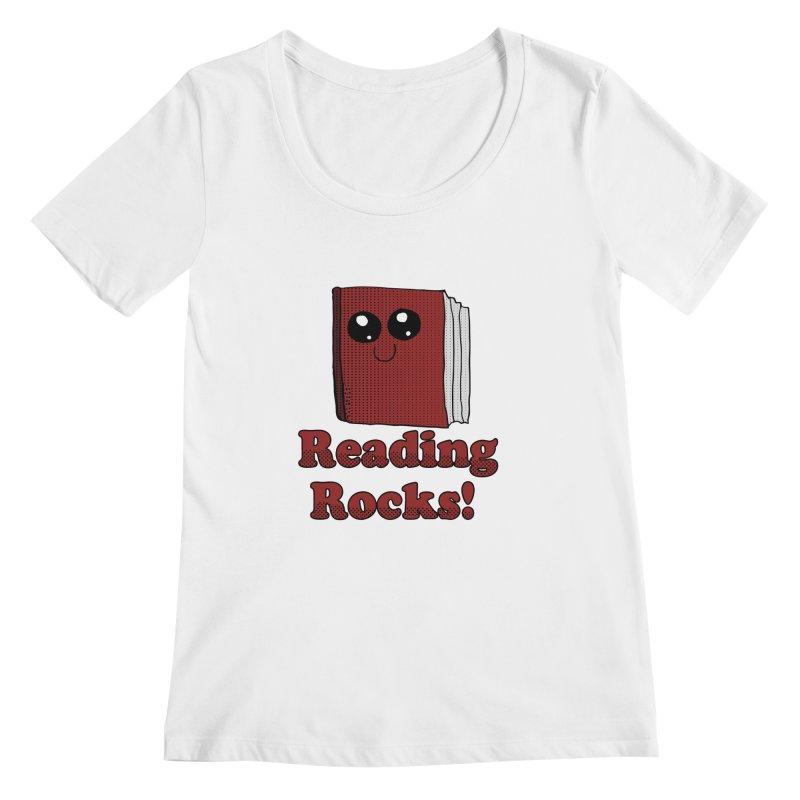 Reading Rocks! Women's Scoopneck by ericallen's Artist Shop