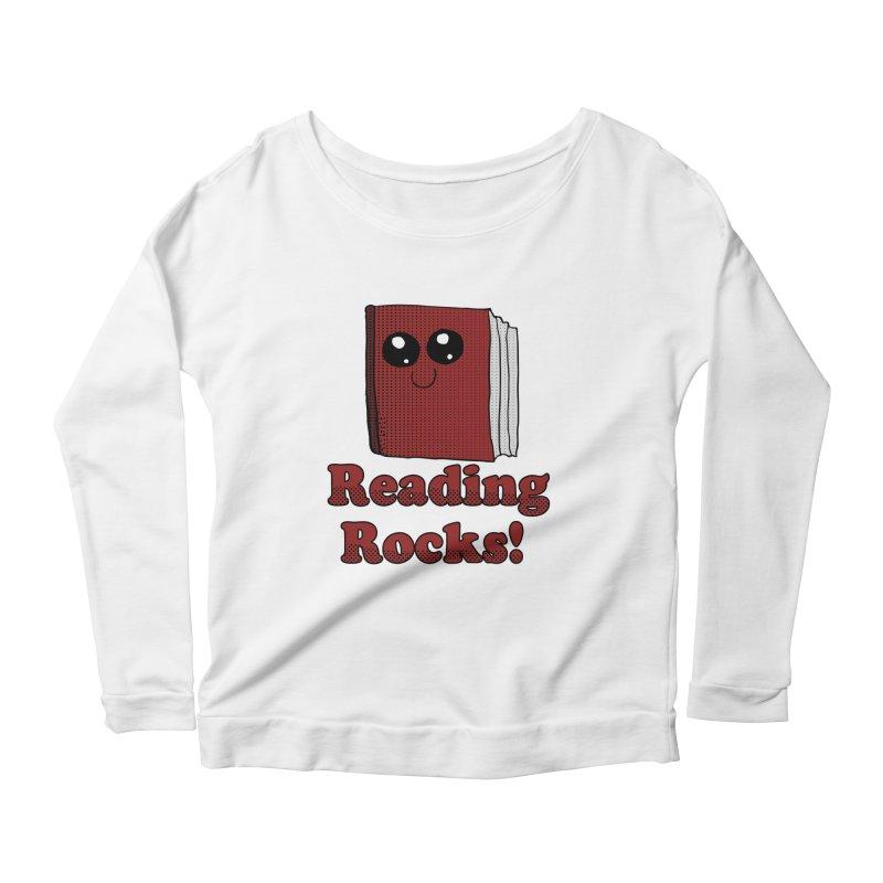 Reading Rocks! Women's Longsleeve Scoopneck  by ericallen's Artist Shop