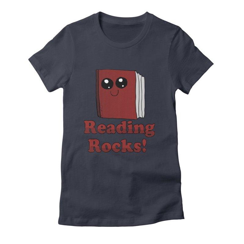 Reading Rocks! Women's Fitted T-Shirt by ericallen's Artist Shop