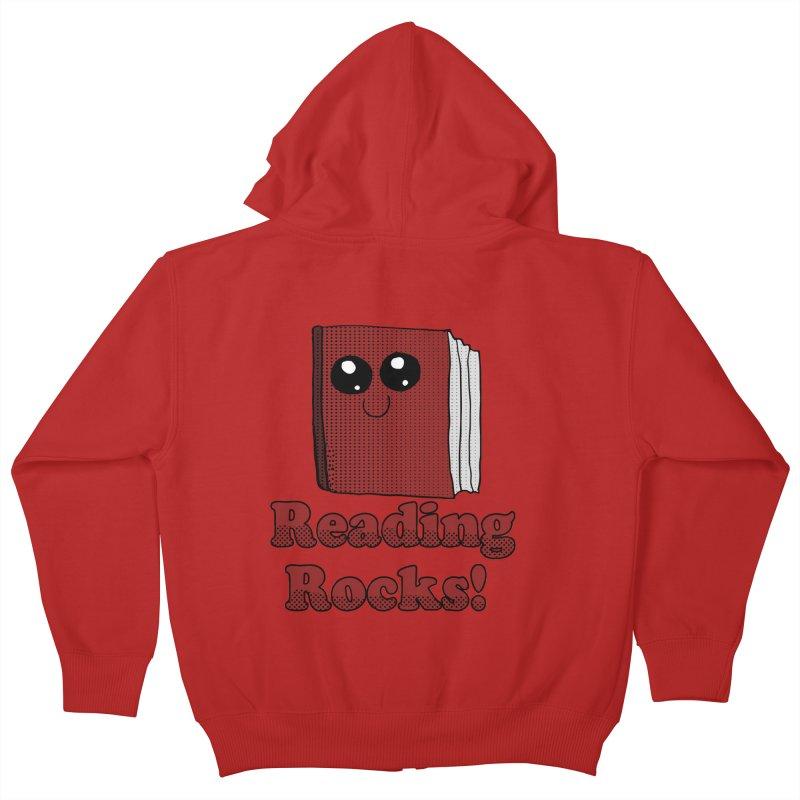 Reading Rocks! Kids Zip-Up Hoody by ericallen's Artist Shop