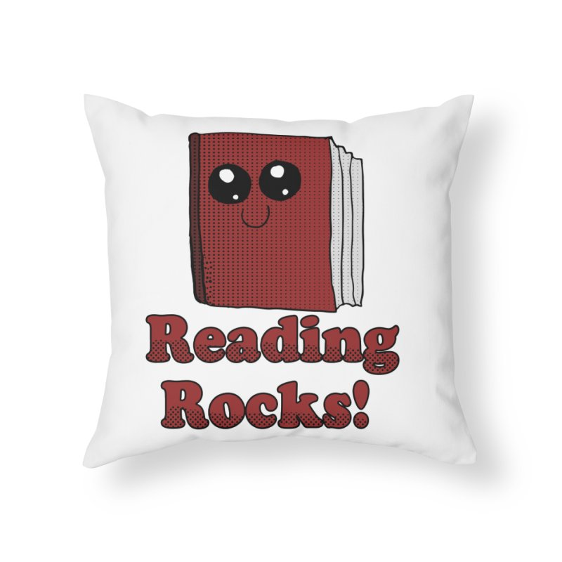 Reading Rocks! Home Throw Pillow by ericallen's Artist Shop