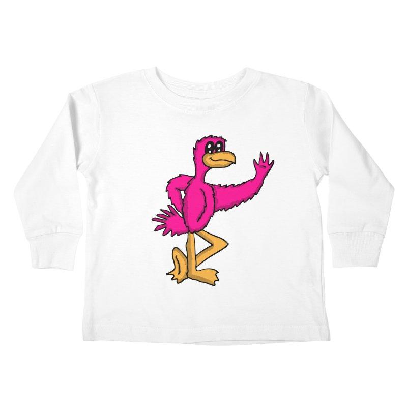 Frankie Flamingo  Kids Toddler Longsleeve T-Shirt by ericallen's Artist Shop