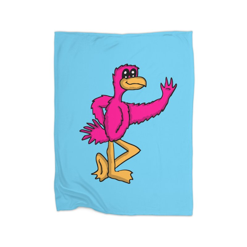 Frankie Flamingo  Home Blanket by ericallen's Artist Shop