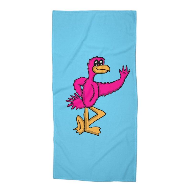 Frankie Flamingo  Accessories Beach Towel by ericallen's Artist Shop