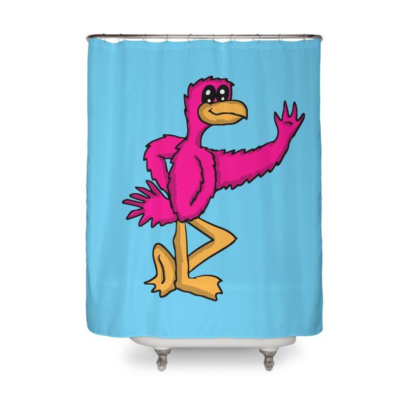 Frankie Flamingo  Home Shower Curtain by ericallen's Artist Shop