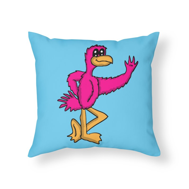 Frankie Flamingo  Home Throw Pillow by ericallen's Artist Shop