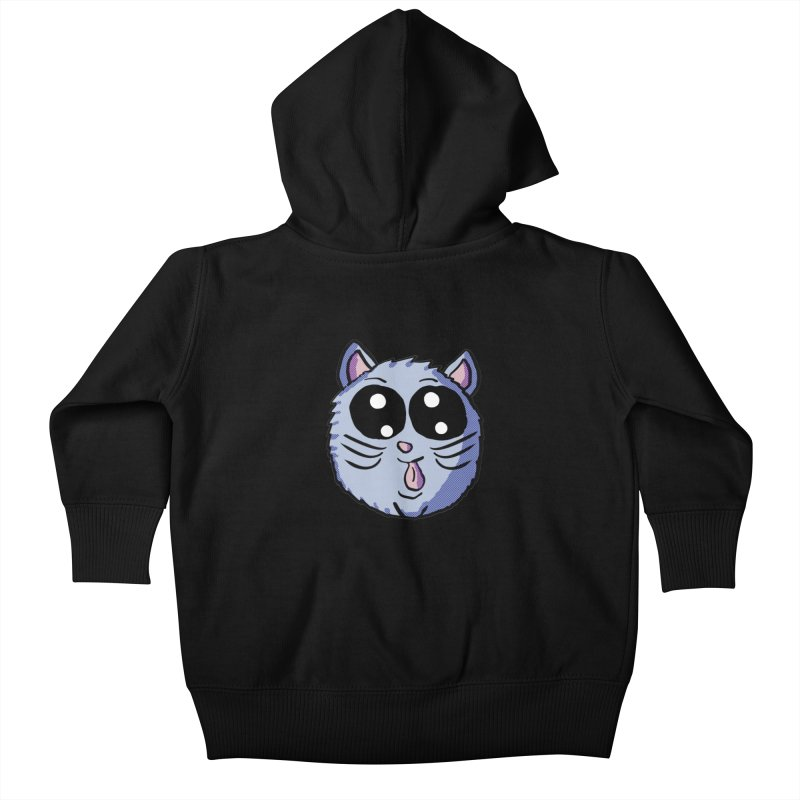 Silly Kitty Kids Baby Zip-Up Hoody by ericallen's Artist Shop