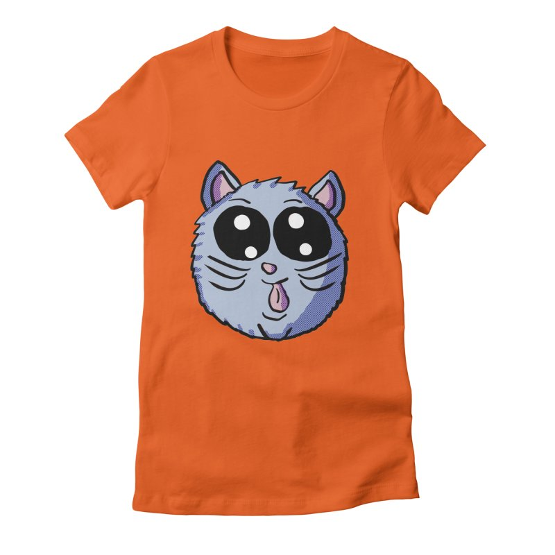 Silly Kitty Women's Fitted T-Shirt by ericallen's Artist Shop