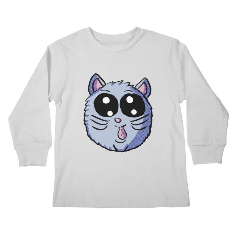 Silly Kitty Kids Longsleeve T-Shirt by ericallen's Artist Shop