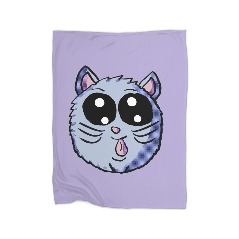Silly Kitty Home Blanket by ericallen's Artist Shop