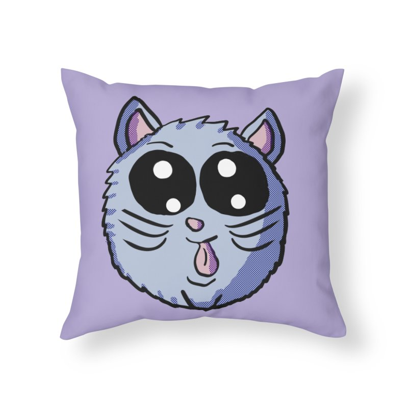 Silly Kitty Home Throw Pillow by ericallen's Artist Shop