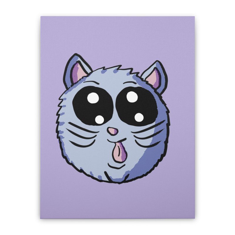 Silly Kitty Home Stretched Canvas by ericallen's Artist Shop