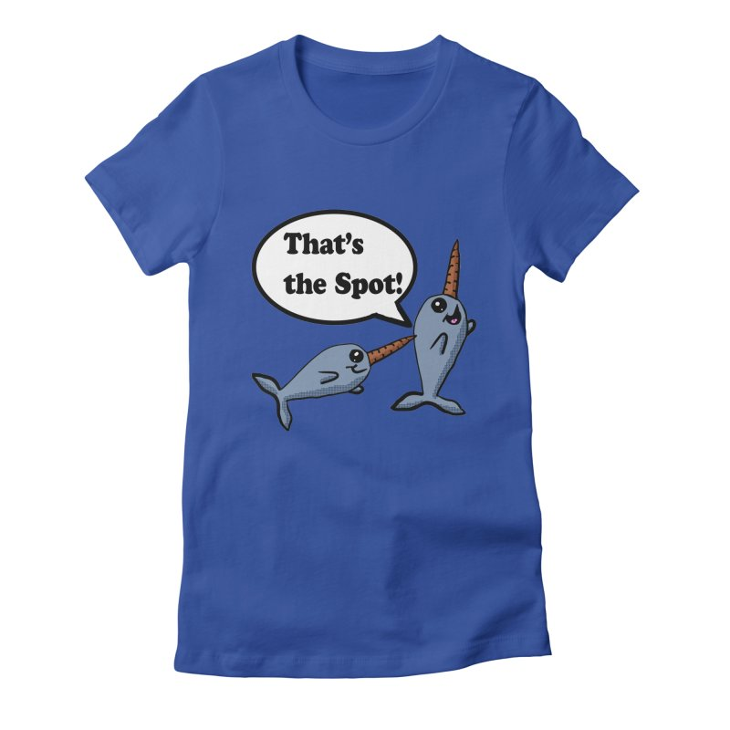 Narwhal Friends Women's Fitted T-Shirt by ericallen's Artist Shop