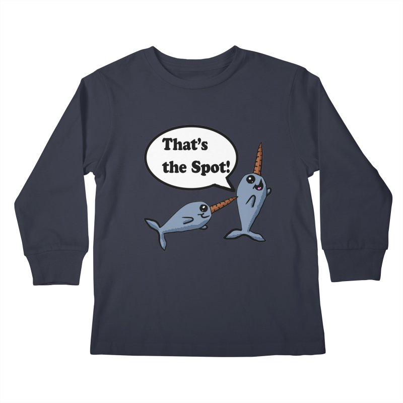 Narwhal Friends Kids Longsleeve T-Shirt by ericallen's Artist Shop