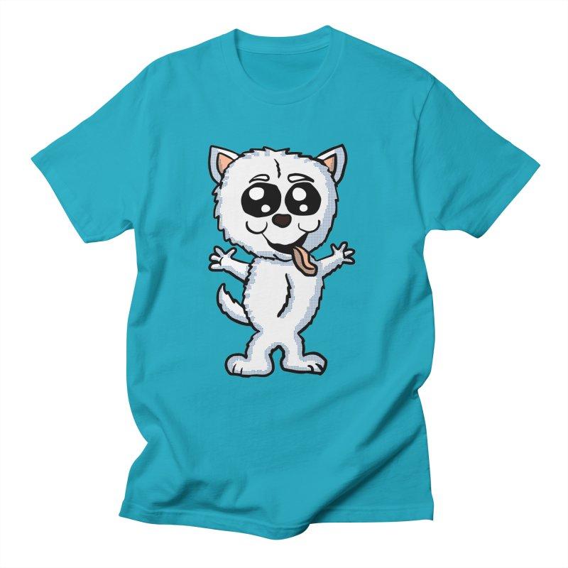 Cute Sheltie in Men's T-shirt Cyan by ericallen's Artist Shop