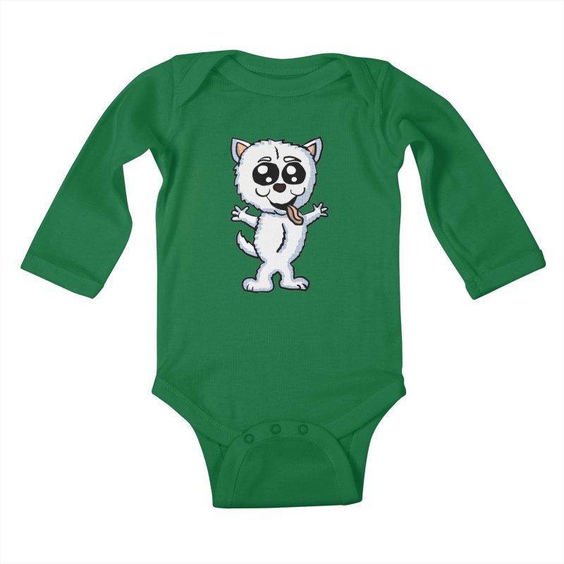 Cute Sheltie Kids Baby Longsleeve Bodysuit by ericallen's Artist Shop