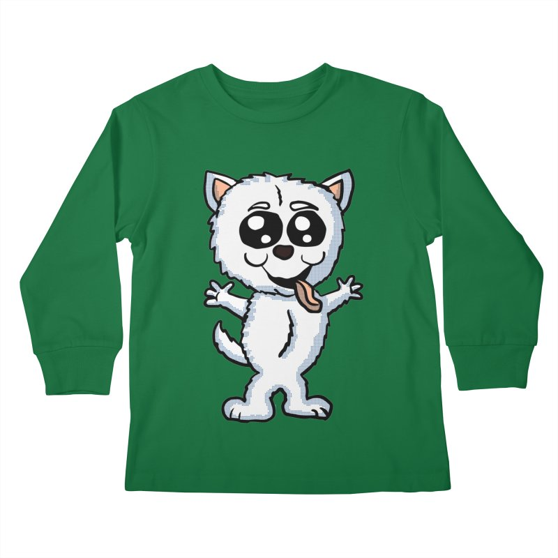 Cute Sheltie Kids Longsleeve T-Shirt by ericallen's Artist Shop