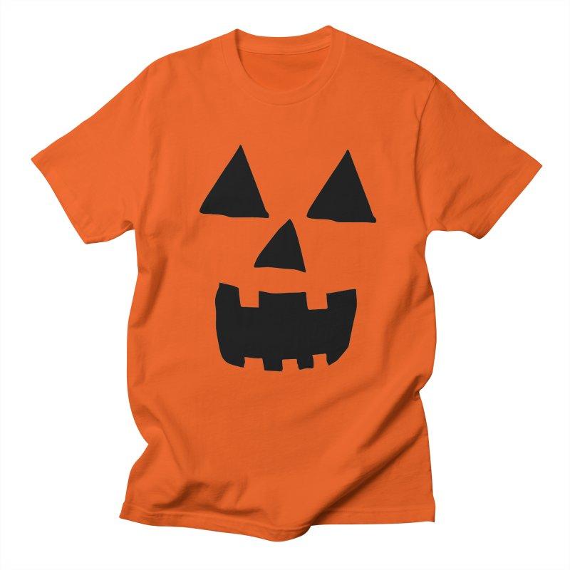 Jack O Lantern Face in Men's T-shirt Orange Poppy by ericallen's Artist Shop
