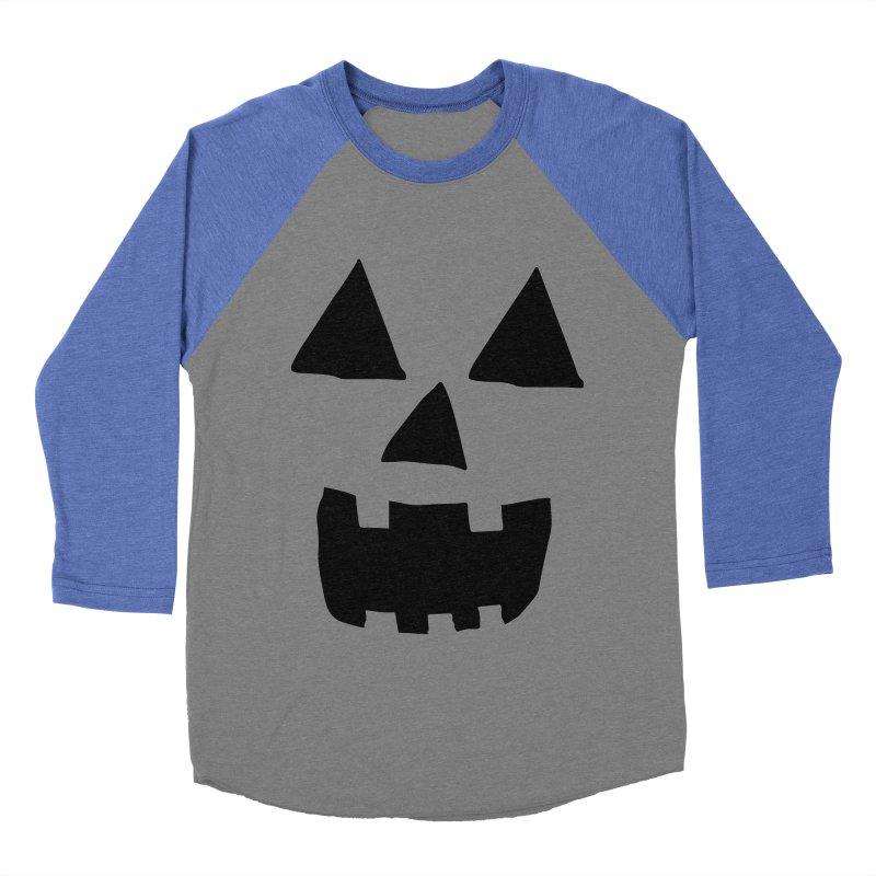Jack O Lantern Face Women's Baseball Triblend T-Shirt by ericallen's Artist Shop