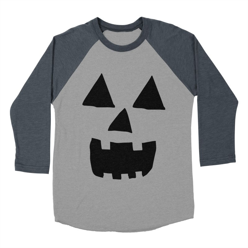 Jack O Lantern Face Men's Baseball Triblend T-Shirt by ericallen's Artist Shop