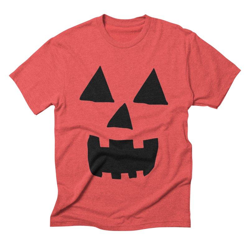 Jack O Lantern Face Men's Triblend T-shirt by ericallen's Artist Shop