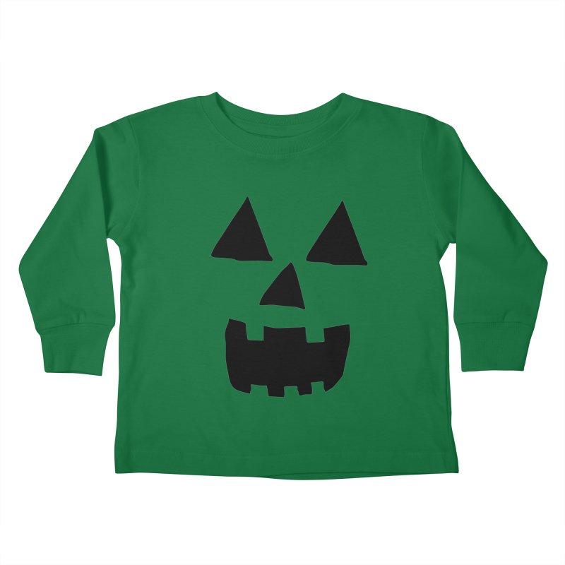 Jack O Lantern Face Kids Toddler Longsleeve T-Shirt by ericallen's Artist Shop