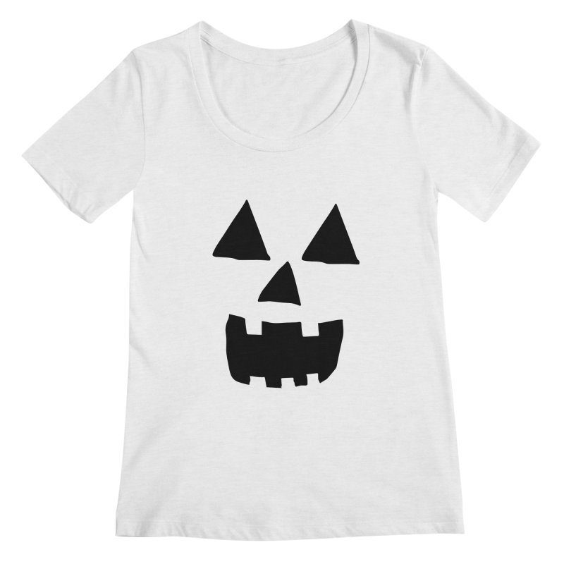 Jack O Lantern Face Women's Scoopneck by ericallen's Artist Shop