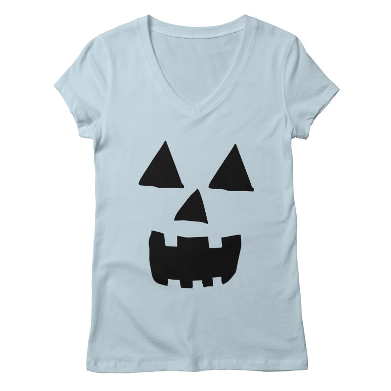 Jack O Lantern Face Women's V-Neck by ericallen's Artist Shop