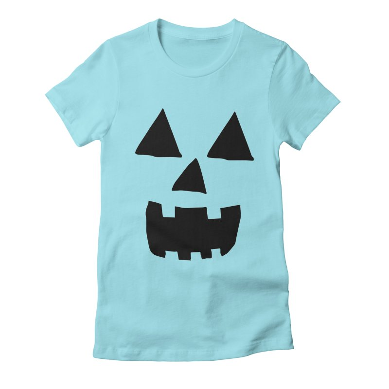 Jack O Lantern Face Women's Fitted T-Shirt by ericallen's Artist Shop