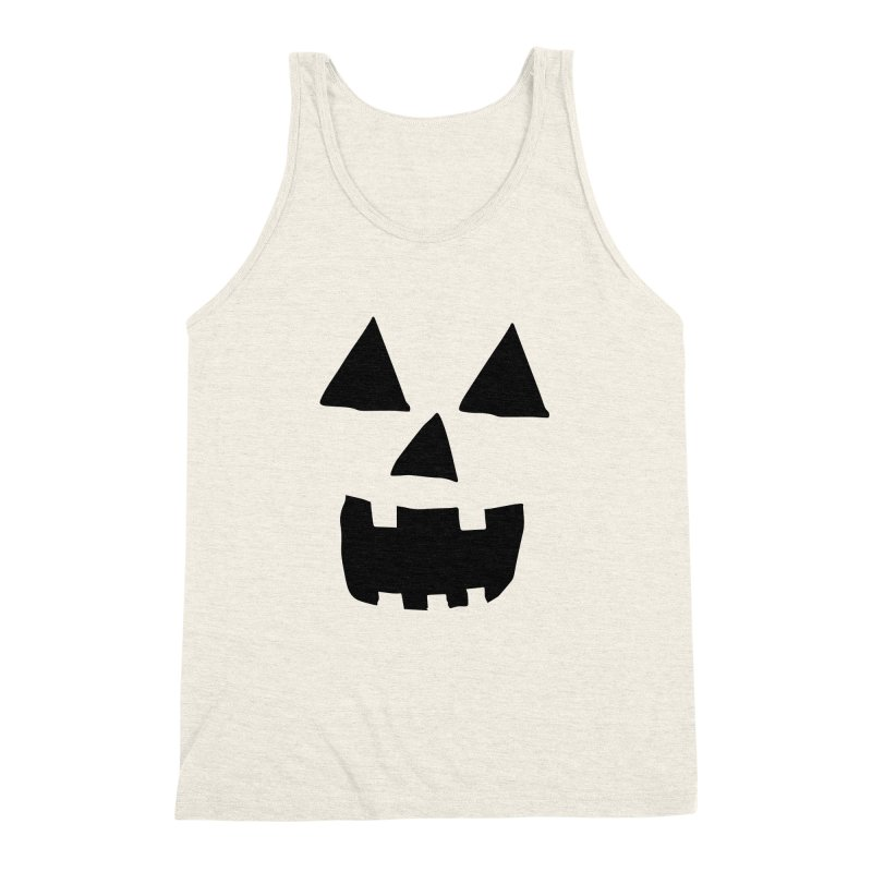 Jack O Lantern Face Men's Triblend Tank by ericallen's Artist Shop