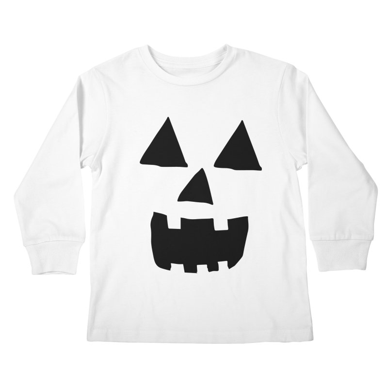 Jack O Lantern Face Kids Longsleeve T-Shirt by ericallen's Artist Shop
