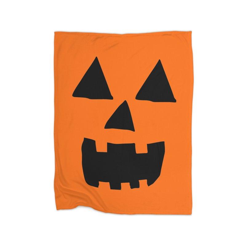 Jack O Lantern Face Home Blanket by ericallen's Artist Shop
