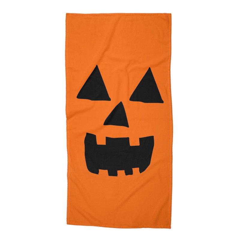 Jack O Lantern Face Accessories Beach Towel by ericallen's Artist Shop