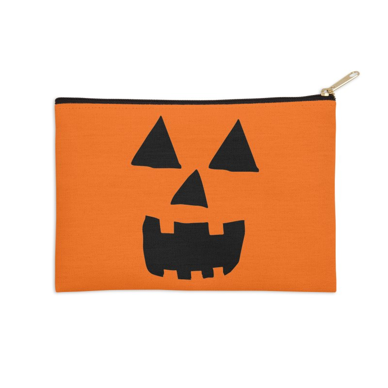 Jack O Lantern Face Accessories Zip Pouch by ericallen's Artist Shop