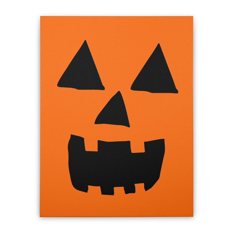 Jack O Lantern Face Home Stretched Canvas by ericallen's Artist Shop