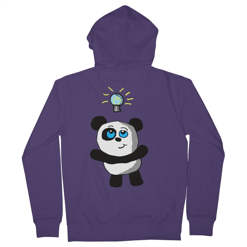 Lightbulb Panda Women's Zip-Up Hoody by ericallen's Artist Shop
