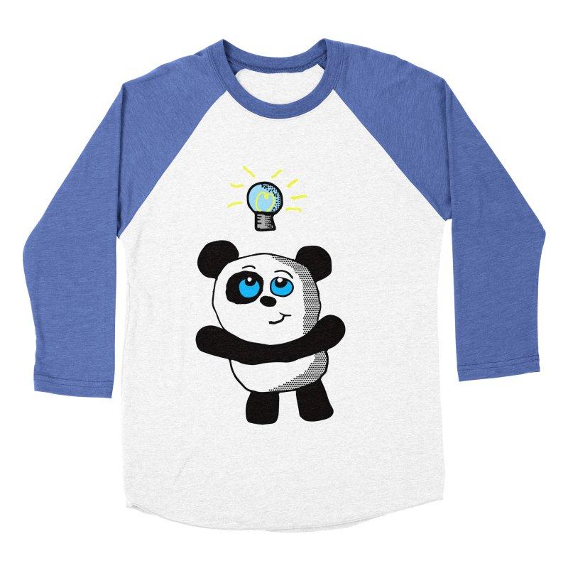 Lightbulb Panda Women's Baseball Triblend T-Shirt by ericallen's Artist Shop